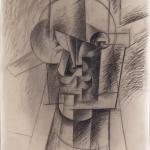 Pablo Picasso, Tête d'homme, 1912 Fusain sur papier, 64 x 49 cm LaM, Lille métropole musée d'art moderne d'art contemporain et d'art brut, Villeneuve d'Ascq / photo Philip Bernard © Succession Picasso 2016