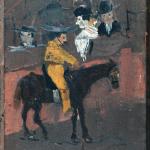 Pablo Picasso, El Picador (le petit picador), Malaga, 1889 Huile sur panneau de bois 24 x 19 cm Collection particulière / Photo © Maurice Aeschimann © Succession Picasso 2016