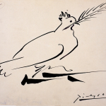 Pablo Picasso, Colombe de la Paix, 16 août 1950 Encre sur papier 21 x 27 cm Musée d'art et d'histoire Saint Denis © Succession Picasso 2016