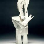 Pablo Picasso, Femme et enfant, 1961 Tôle découpée, pliée, assemblée et peinte 43,2 x 17,60 x 21 cm Collection particulière / Photo © Maurice Aeschimann © Succession Picasso 2016